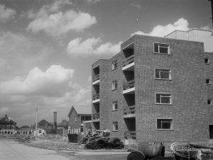 Church Elm Lane showing flats bordering Hollidge Way, 1966