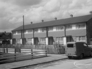 Housing in Church Elm Lane, Dagenham showing houses in Close to west of Hollidge Way, 1966