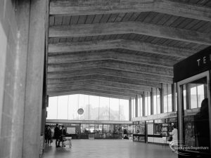 Railways, showing interior of Booking Hall at Barking Station, looking north, 1966