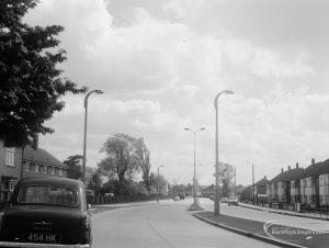 Rainham Road North, Dagenham, showing area above Wantz Library and Woodlands, 1966