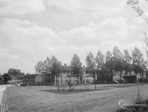 Bull Lane, Dagenham, showing the garden created next to Rainham Road North, looking from south-east, 1966