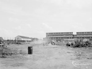 South side of Becontree Heath cleared for new development, showing area west of shopping centre, 1966