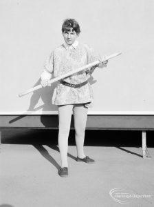 Gearies Girls School, Redbridge, showing performer in 'As You Like It' school play, 1966