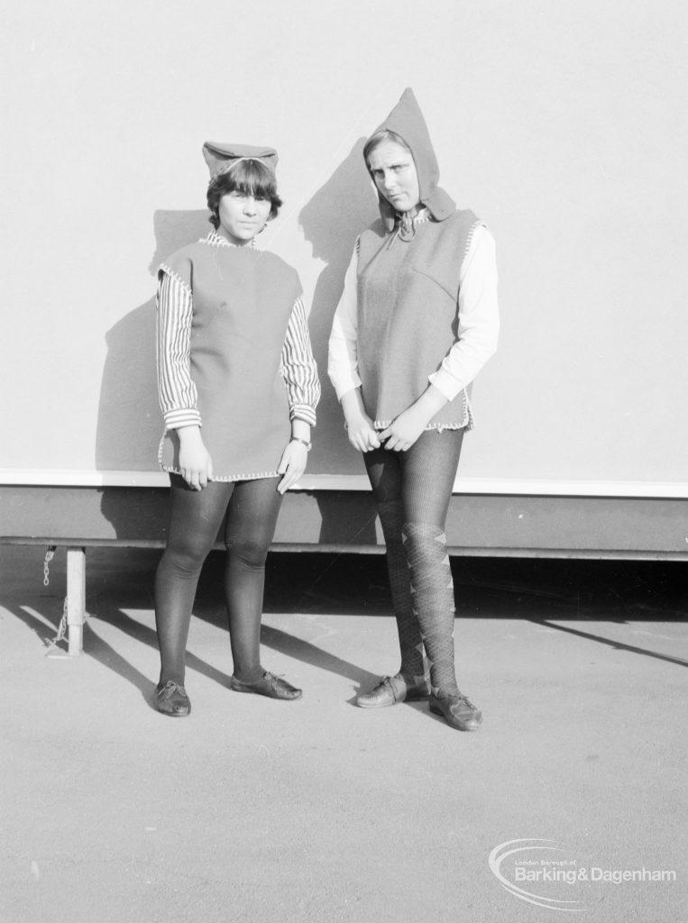 Gearies Girls School, Redbridge, showing two performers in 'As You Like It' school play, 1966