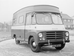 Transport, showing London Borough of Barking Education Committee van (angled front and offside), 1967