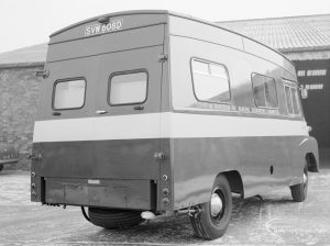 Transport, showing London Borough of Barking Education Committee van (rear and nearside), 1967