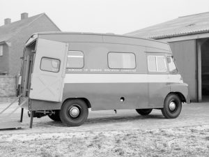 Transport, showing London Borough of Barking Education Committee van (offside side view), 1967