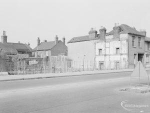 Crown Street, Old Dagenham Village, showing partly demolished area, 1967