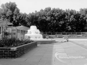 The fountain at the Barking Park open air Swimming Pool, 1969