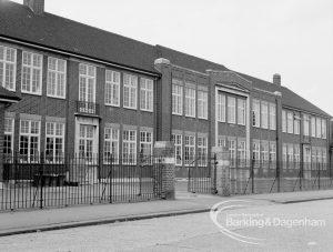 Park Secondary Modern School, Dagenham from Vicarage Road, 1969