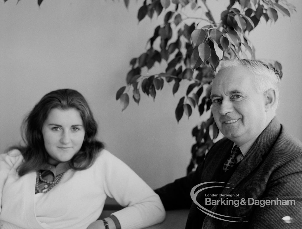 Egbert E Smart and his daughter Susan, 1969