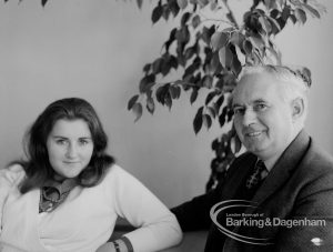 Egbert E Smart and his daughter Susan, 1969