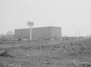 Ford Motor Works Limited building [possibly Depository] in Ripple Road, Dagenham, near Chequers, 1971