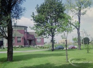 Sewage Works Reconstruction (Riverside Treatment Works) XXII, showing the 'old' entrance and laboratory, 1971