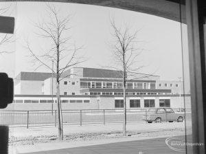 Dagenham Swimming Pool, Becontree Heath, seen through arch on east side, 1972