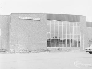 West end of Dagenham Swimming Pool, Becontree Heath, 1972
