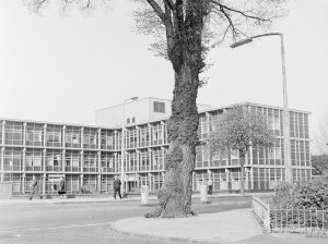 Maternity Block from south-east, at Barking Hospital, Upney Lane, Barking, 1972