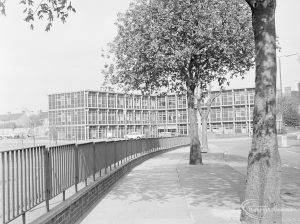 Barking Hospital, Upney Lane, Barking, main building from south, 1972