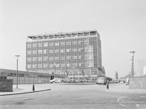 Isolated hospital block at Barking Hospital, Upney Lane, Barking, from east, 1972