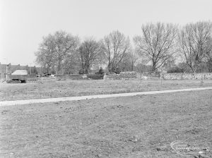 Old Barking landscaping, showing area towards Barking Abbey ruins, looking south-west, 1972