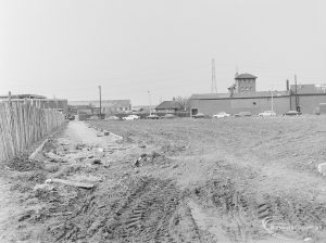 Old Barking landscaping, showing the east boundary looking south, 1972