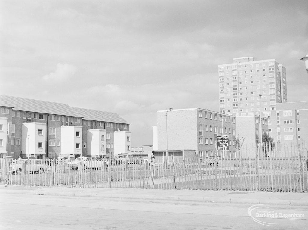 Becontree Heath development, showing new housing, 1972