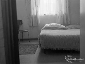 Welfare for the Blind, showing a blind person's bedroom, 1973