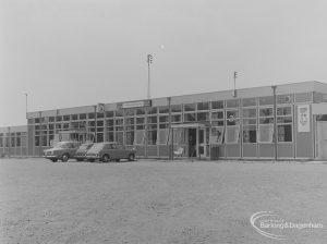 Barking Football Club House, Mayesbrook Park, Dagenham, east side, 1974