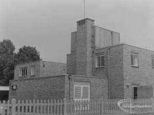 Housing for disabled people at Sweetland Court, Lodge Avenue, Barking, taken from south, 1974