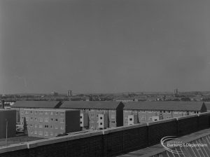 Becontree Heath, showing view from roof of Civic Centre, Dagenham looking north-west, 1974