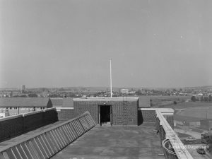 Becontree Heath, showing view from roof of Civic Centre, Dagenham [possibly towards north], 1974