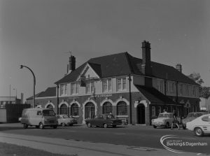 Becontree Heath, showing Ship and Anchor Public House from south-east, 1974
