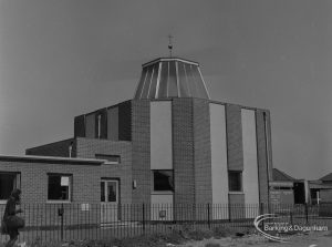 Becontree Heath, showing Becontree Heath Methodist Church from south-west, 1974