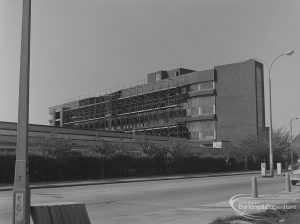 Site of Ever-Ready Factory in Rainham Road South, Dagenham, with new building under construction, 1974