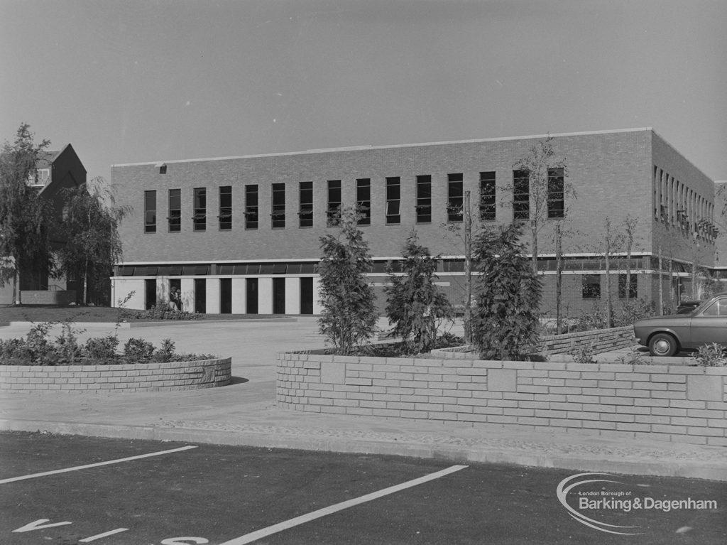 New Barking Central Library, Axe Street, Barking, left side, 1974