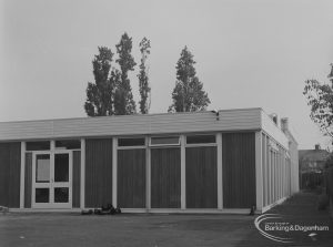 New Clubhouse at rear of Dockland Settlement, Heathway, Dagenham, 1974