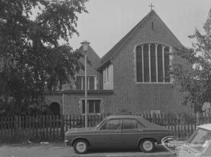 St Elizabeth's Church, Hewett Road, Dagenham from south-east, 1974