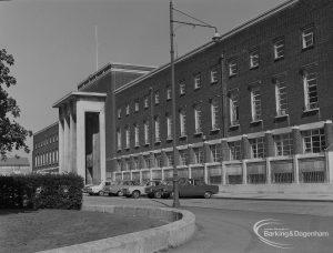 Front exterior of Civic Centre, Dagenham, 1974