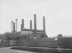 Barking Power Station from north-west, 1976