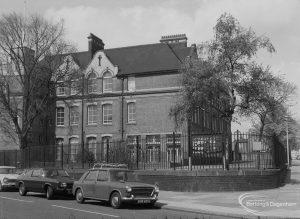 Westbury School, Ripple Road, Barking from south-east, 1976