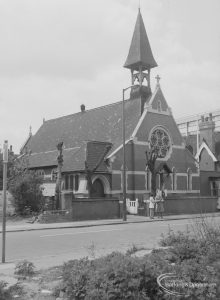 St Mary and St Ethelburga Roman Catholic Church, Linton Road, Barking, from north-east, 1976