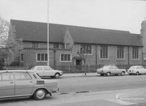 St Elizabeth's Church, Wood Lane, Dagenham, from north-east, 1976