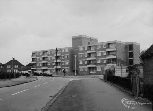 Housing for elderly people, showing new flats in Ford Road, Dagenham, 1976