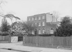 Woodlands House, Rainham Road North, Dagenham, from south-east, 1976