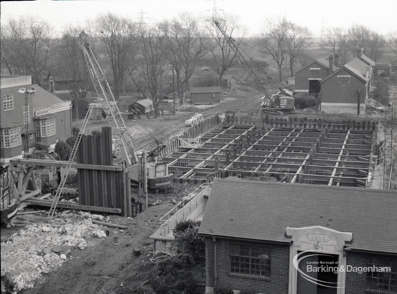 Dagenham Council Sewage banks reconstruction, showing view