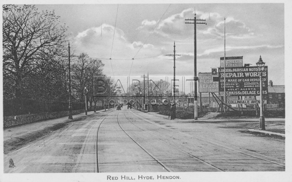 Junction of Colindale Avenue looking north