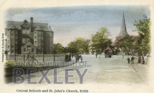 PCD_1438 Central Schools and St John's Church, Erith c.1900