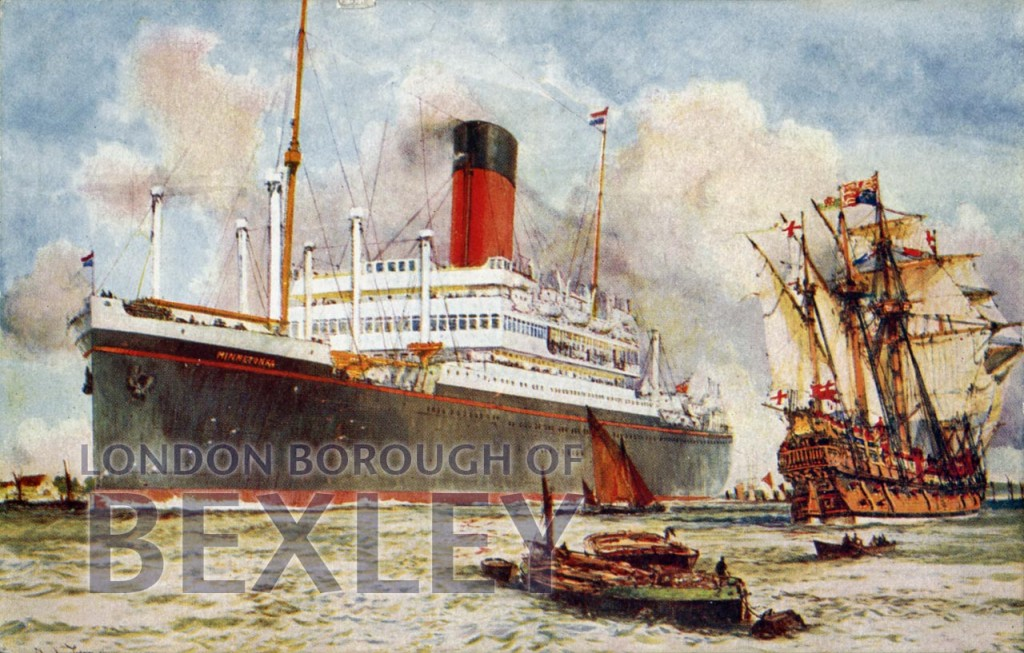 London's largest ship in 1924 and 1524 c.1924