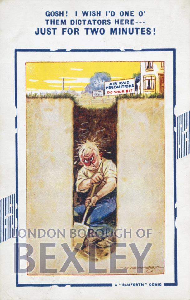 Air Raid Precautions Postcard 1939