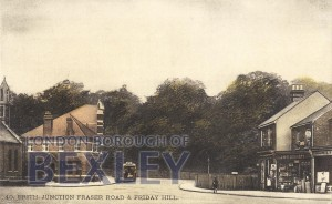 PCD_531 Erith, Junction Fraser Road and Friday Hill c.1910